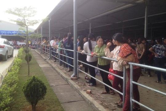 Công nhân Công ty ANTONIA Việt Nam tại TP Tam Điệp - Ninh Bình ngừng việc đòi quyền lợi