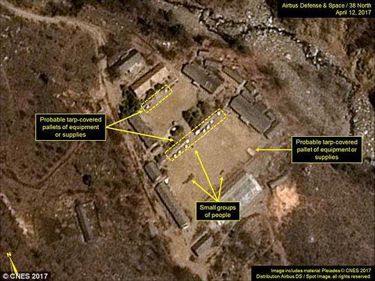 Các hoạt động tại bãi thử hạt nhân Punggye-ri của Triều Tiên đang diễn ra liên tục. Ảnh: 38 NORTH