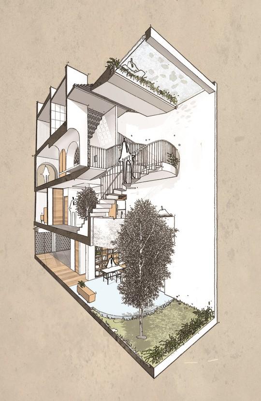 Căn nhà ống cải tạo với sân nằm trong nhà ở Sài Gòn - Ảnh 19.