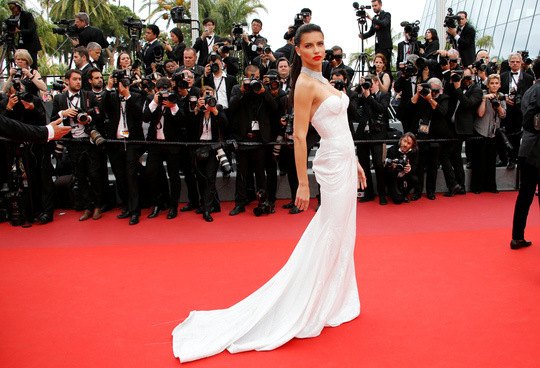 Người mẫu bạch biến tự tin khoe dáng tại Cannes 70 - Ảnh 8.
