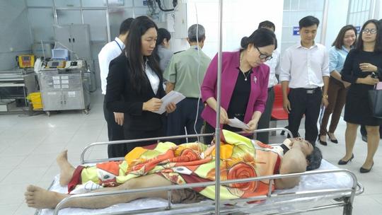 Cơ quan chức năng tỉnh Bà Rịa-Vũng Tàu thăm hỏi, động viên các nạn nhân