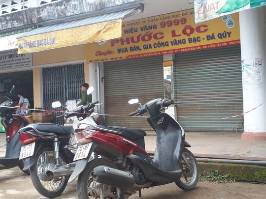 Tiệm vàng Phước Lộc nơi xảy ra mất cắp