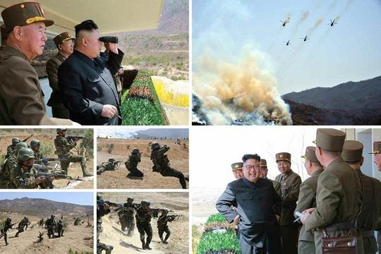 Một số hình ảnh về buổi tập trận mới đây được Rodong Sinmun công bố. Ảnh: Rodong Sinmun