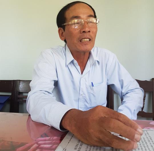Ông Chưởng kể lại vụ việc Ảnh: BINH CAO