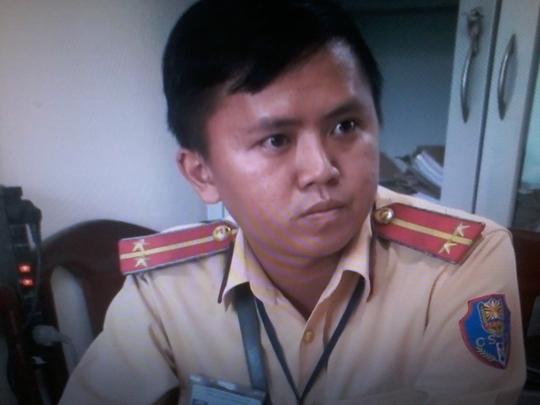 Trung úy CSGT lên tiếng vụ bị trung tướng về hưu lăng mạ - Ảnh 1.