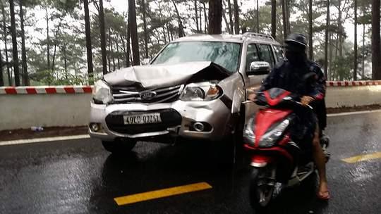 Tai nạn liên hoàn trên đèo Prenn Đà Lạt - Ảnh 2.