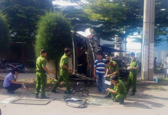 Xe container gây tai nạn nghiêm trọng trong KCN Tân Bình - Ảnh 3.