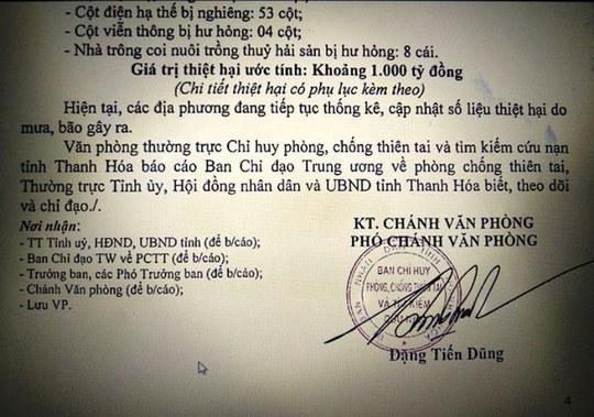 Bão không vào thẳng, Thanh Hóa vẫn thiệt hại 1.000 tỉ đồng - Ảnh 1.