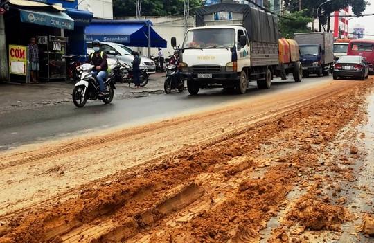 Kinh hãi với bùn nhão đầy đường ở TP HCM - Ảnh 1.