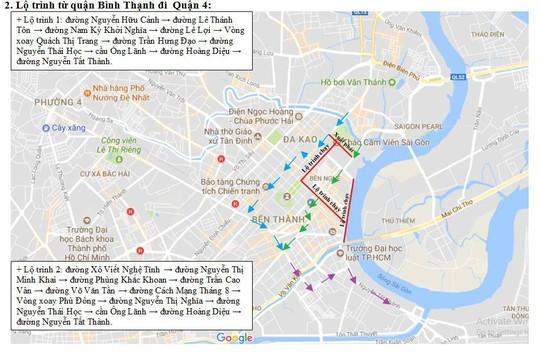 Cấm nhiều tuyến đường khu trung tâm TP HCM - Ảnh 2.