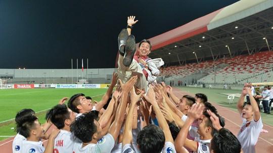 Tuyển Việt Nam vui mừng khi giành quyền tham dự VCK U20 thế giới