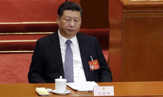 Chủ tịch Trung Quốc Tập Cận Bình trong phiên họp Quốc hội thường niên hôm 10-3. Ảnh: AP