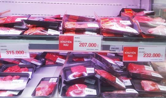 Hầu hết siêu thị tại TP HCM không bán thịt Brazil, mặt hàng nhập chủ yếu từ Mỹ, Úc.