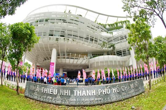 Sáng 29-4, Nhà thiếu nhi TP HCM (169 Nam Kỳ Khởi Nghĩa, Quận 3, TP HCM) đã chính thức được khánh thành sau gần 2 năm xây dựng.