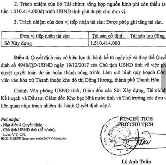 Thay quyết định quyết toán dự án tiền tỉ mà ông Ngô Văn Tuấn đã ký - Ảnh 3.