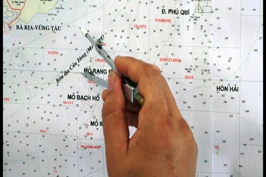 Đánh giấu vị trí tàu chìm trên bản đồ