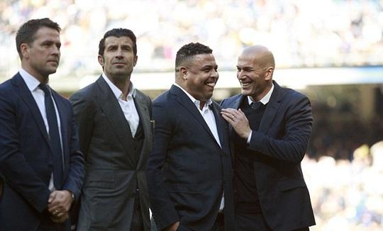 Các cựu ngôi sao Real Madrid họp mặt ở Bernabeu tuần qua