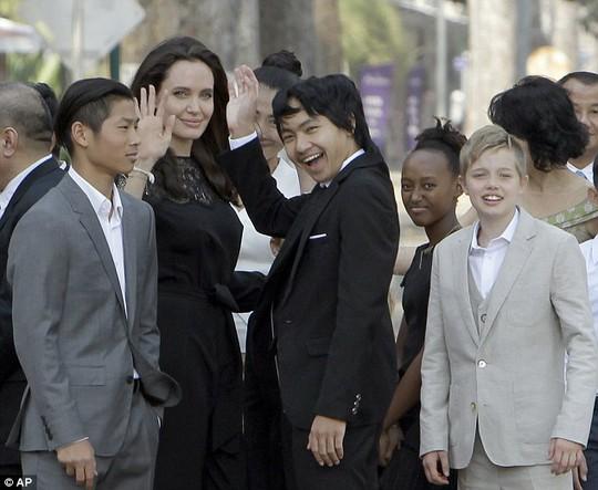 Angelina đang chăm sóc 6 con, Brad Pitt được quyền đến thăm