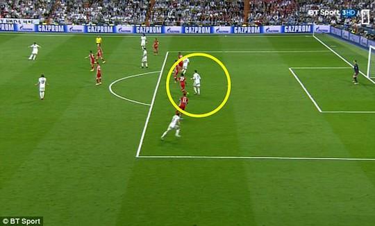 Bàn thắng thứ hai của Ronaldo được ghi trong thế việt vị rõ ràng