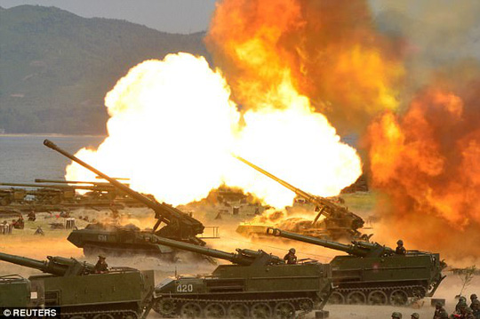 """Triều Tiên dọa """"xóa sổ"""" Mỹ - Hàn bằng 5 triệu bom nguyên tử - Ảnh 4."""
