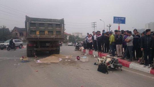 Hiện trường vụ tai nạn khiến 2 nạn nhân tử vong - Ảnh: CTV
