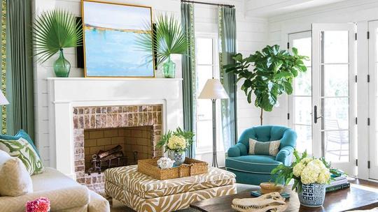 Trang trí nhà ngập sắc xanh giúp thư giãn tuyệt vời
