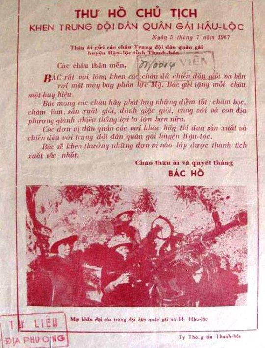 Những bức thư đượm tình Bác Hồ với quân, dân Thanh Hóa - Ảnh 3.