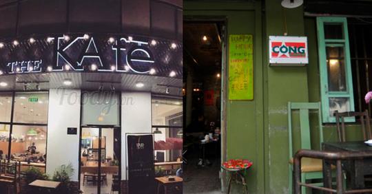 The KAfe đặt cạnh Cộng cà phê