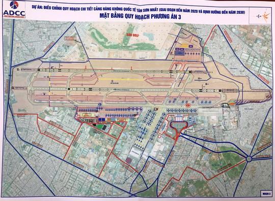 Phương án quy hoạch, mở rộng sân bay Tân Sơn Nhất (phương án 3) được Phó Thủ tướng Trịnh Đình Dũng cho là phù hợp nhất