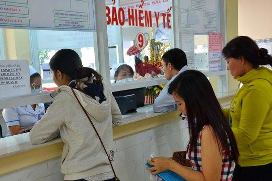 Khám chữa bệnh diện BHYT tại Bệnh viện Đa khoa Sài Gòn Ảnh: TẤN THẠNH