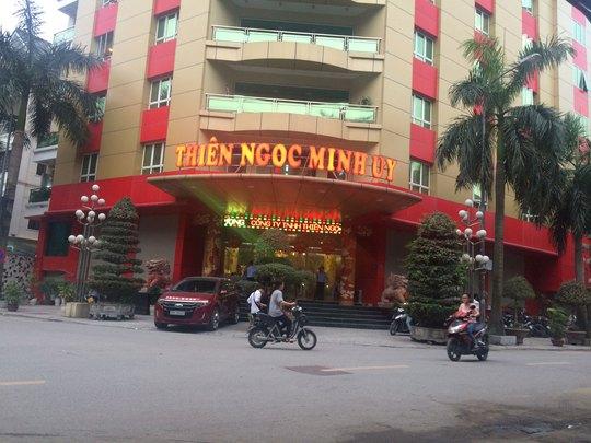Chiều 25-4, hoạt động của Công ty TNHH Thiên Ngọc Minh Uy vẫn diễn ra bình thường Ảnh: THÙY DƯƠNG