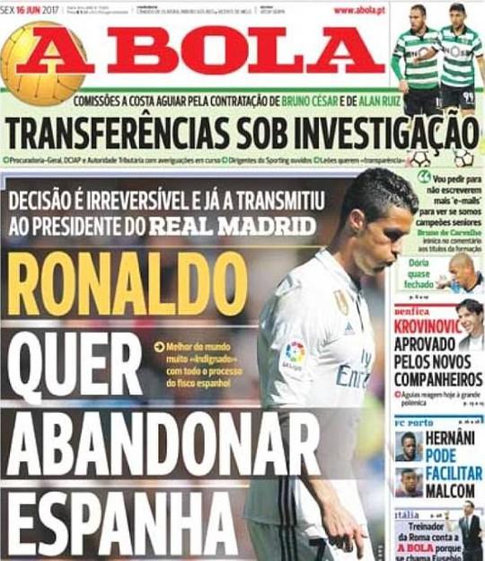 Bị cáo buộc trốn thuế, Ronaldo dọa rời Real Madrid - Ảnh 1.