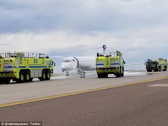 Mỹ: Máy bay cháy động cơ khi vừa hạ cánh - Ảnh 3.