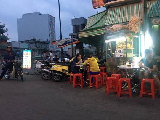 Một quán chay tại phố ẩm thực chay quận 6.