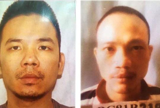 Tử tù Lê Văn Thọ (bìa phải) và Nguyễn Văn Tình (Ảnh công an cung cấp)