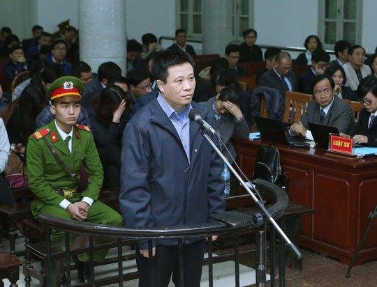 Bị cáo Hà Văn Thắm tại phiên xét xử ngày 1-3 Ảnh: TTXVN