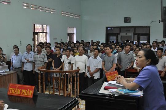 Phiên tòa phúc thẩm xét xử các bị cáo cắt cây rừng khô