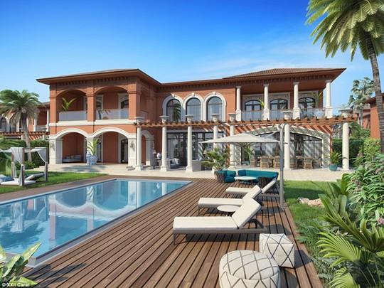 Khu biệt thự phức hợp mang phong cách Địa Trung Hải.