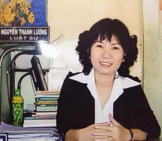 Luật sư Trần Thị Ánh. Ảnh do nhân vật cung cấp