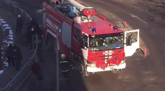 Hiện trường vụ tai nạn gần sân bay Domodedovo, thủ đô Moscow - Nga. Ảnh: Instagram