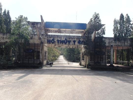 Cổng vào công viên Hồ Thủy Tiên.