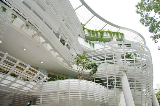 Công trình lấy ý tưởng thiết kế từ những hình khối mầm cây, cánh diều và tổ chim thể hiện nơi ươm mầm và chắp cánh ước mơ, tài năng cho thiếu nhi