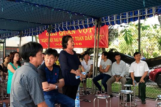 Hội nghị bầu Ban Quản trị chung cư Tân Tạo diễn ra tháng 1-2017 bị thất bại vì tranh cãi chuyện thu - chi Ảnh: LÊ PHONG