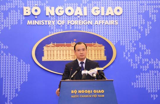 Lần cuối chủ trì cuộc họp báo thường kỳ trên cương vị Người Phát ngôn Bộ Ngoại giao Việt Nam, ông Lê Hải Bình tiếp tục đưa ra quan điểm thẳng thắn của Việt Nam về tình hình biển Đông hiện nay