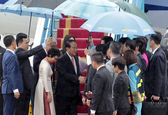 Đoàn đại biểu APEC 2017 đầu tiên đáp xuống Đà Nẵng - Ảnh 4.