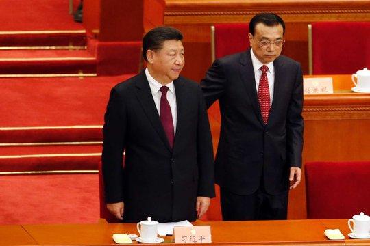 Chủ tịch nước Tập Cận Bình (trái) và Thủ tướng Lý Khắc Cường. Ảnh: AP