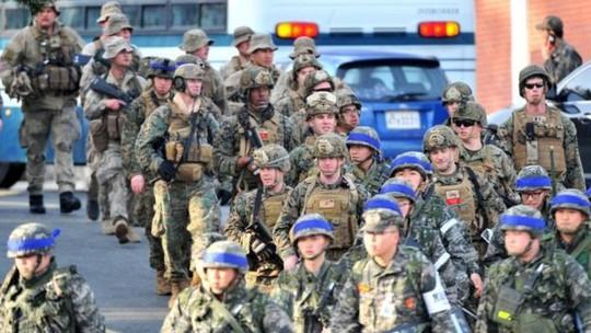 Hàn Quốc cân nhắc ngưng tập trận với Mỹ - Ảnh 1.