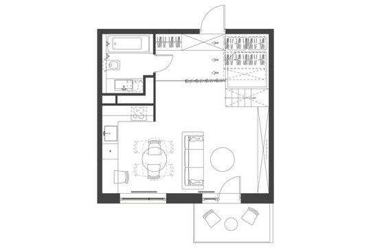 Căn hộ 35 m2 siêu đẹp với hộp ngủ tiết kiệm diện tích - Ảnh 9.