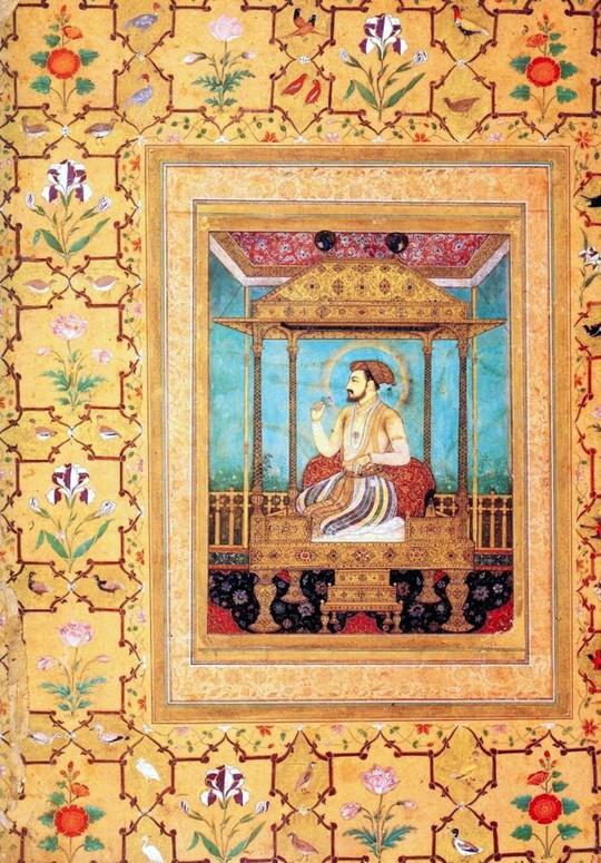 Hoàng đế Mughal Shah Jahan và ngai vàng con công nổi tiếng. Ảnh: AKG-Images