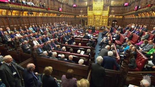 Thượng Nghị viện Anh bỏ phiếu thông qua dự luật Brexit. Ảnh: PA